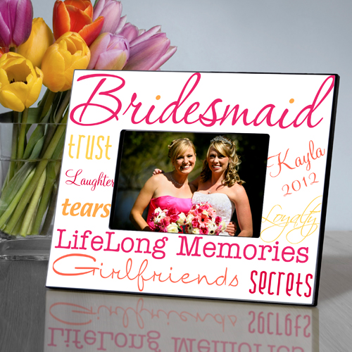Bridesmaid Picture Frames | Personalized Kaleidoscope Bridesmaid Picture Frame Famous Favors