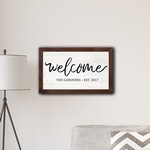 Personalized Framed Welcome Modern Farmhouse 14