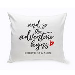 Personalized Adventure Begins Throw Pillow