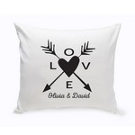 Personalized Love Arrows Throw Pillow - Black