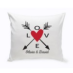 Personalized Love Arrows Throw Pillow - Red