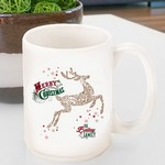 Personalized Vintage Holiday Coffee Mug - Vintage Reindeer