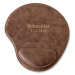 Personalized Rustic Faux Leather Mouse Pad