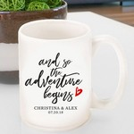 Personalized Adventure Begins Coffee Mug
