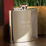 Personalized 7 oz. High Polish Stainless Steel Flask