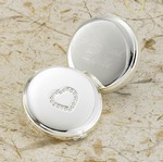 Personalized Sweetheart Silver Plated Compact Mirror