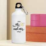 Personalized Mr. & Mrs. Wedding Ring Water Bottle