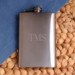 Personalized 8 oz. Rich Gunmetal Flask