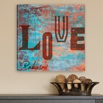 Personalized Graffiti Style Love Canvas Print