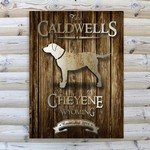 Personalized Rustic Wood Cabin Canvas Prints