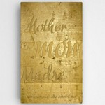Personalized Mothers Gold Canvas Sign