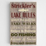 Personalized Lake Rules Canvas Sign