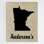 Personalized Country Home State Canvas Sign