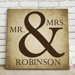 Personalized Mr & Mrs Canvas Sign