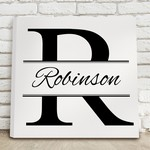 Personalized Stamped Design Canvas Sign