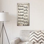 Personalized Think Speak Love Canvas Print