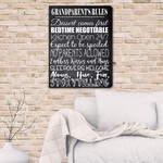 Personalized Grandparent's Rules Canvas Print