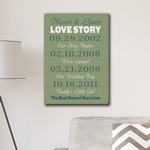 Personalized Best Days of Our Lives Canvas Print