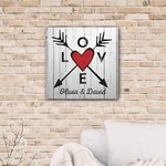 Personalized Arrows Crossing Canvas Print