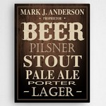 Personalized Craft Beer Canvas Print