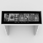 Architectural Elements III Black and White Family Name Print