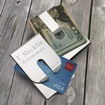 Personalized Harrison II Polished Money Clip / Credit Card Holder