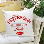 Personalized Family II Throw Pillow