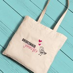 Personalized Bridesmaid Canvas Tote