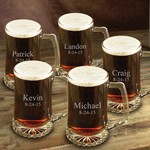 Personalized Set of Five 25oz Mugs