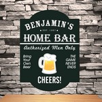 Personalized Classic Tavern Bar Sign