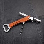 Personalized Wood Handle Wine & Bottle Opener Multi-tool