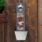 Personalized Bully Boar Bar Wall Mounted Bottle Opener and Cap Catcher