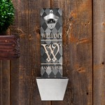 Personalized Argyle Family Pub Wall Mounted Bottle Opener and Cap Catcher