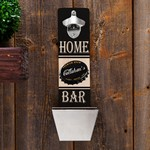 Personalized Home Bar Premium Brew Wall Mounted Bottle Opener & Cap Catcher