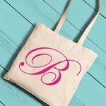 Personalized Initial Tote Bag