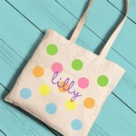Personalized Girl's Canvas Tote Bag
