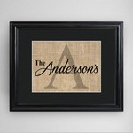 Personalized Family Name & Initial Framed Print