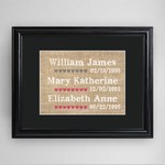 Personalized Our Kids Framed Print