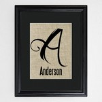 Personalized Family Initial Framed Print