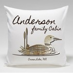 Personalized Cabin Throw Pillow