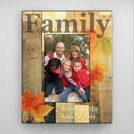 Personalized Family Fall Picture Frame