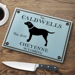 Personalized Cabin Series Glass Cutting Board