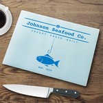 Personalized Glass Cutting Board -  Fish N Hook