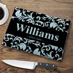 Personalized Glass Cutting Board - Flourish