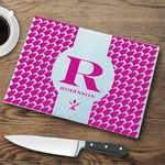 Personalized Glass Cutting Board - Houndstooth