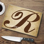 Personalized Initial Cutting Board
