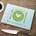 Personalized Glass Cutting Board - Live Love Eat