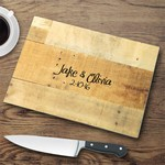 Personalized Glass Cutting Board - Multiwood