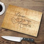 Personalized Glass Cutting Board - Pine