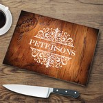 Personalized Glass Cutting Board - Rosewood